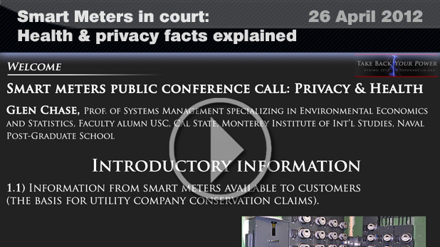 Smart Meters in court: Health & privacy facts explained (26 April 2012)