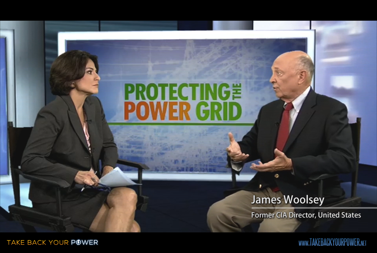 "James Woolsey: ""The so-called 'smart' grid as it is now, is actually a really, really stupid grid."" (scene from Take Back Your Power)"