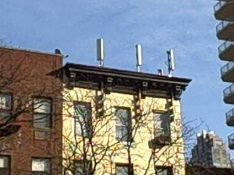 cell tower infrastructure on rooftops