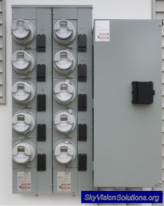 Would you want to live next to this bank of wireless 'smart' meters?