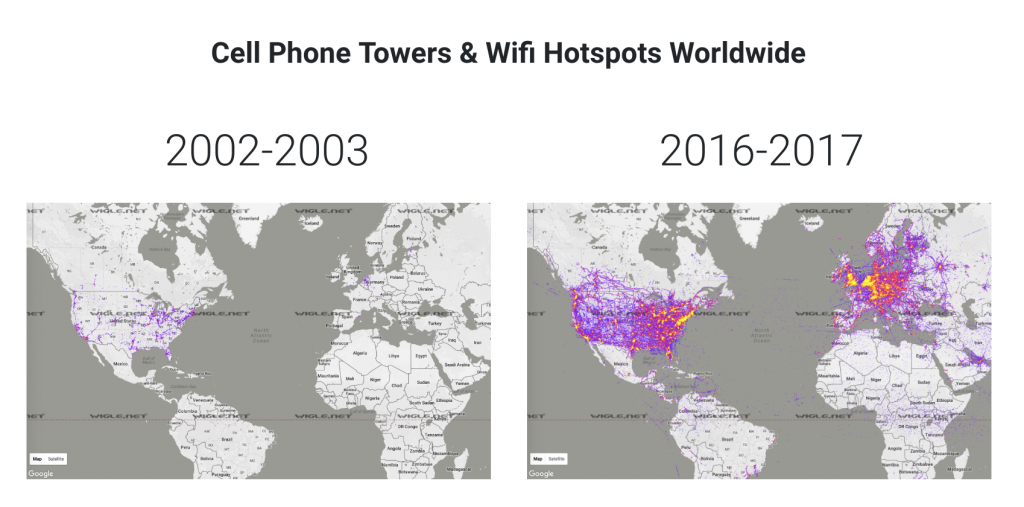 Cell towers increase (EMF / wireless)